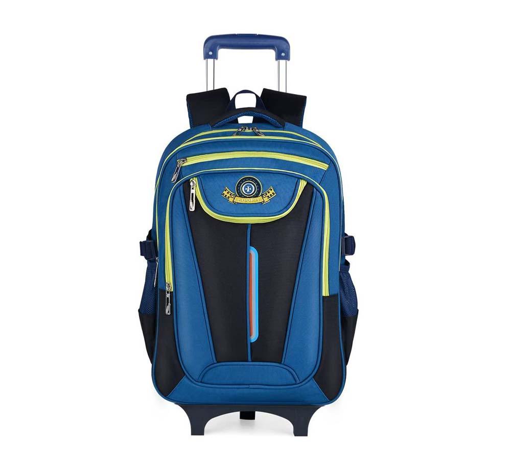 Mochila escolar con ruedas COOFIT BRAND Azul