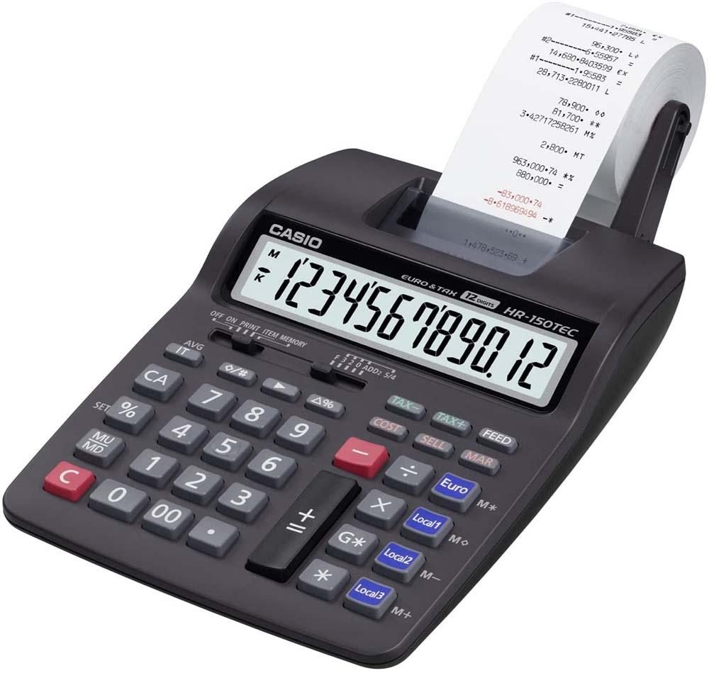 Calculadora con impresora Casio HR-150TEC
