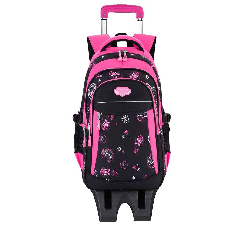 Mochila escolar con ruedas Fanspack Rosa
