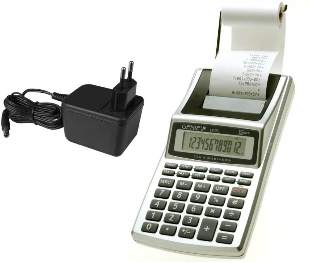 Calculadora con impresora Genie LP 20