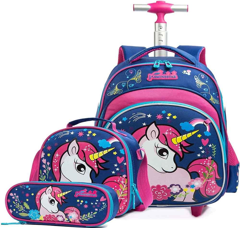 Mochila escolar con ruedas HTgroce Unicornio