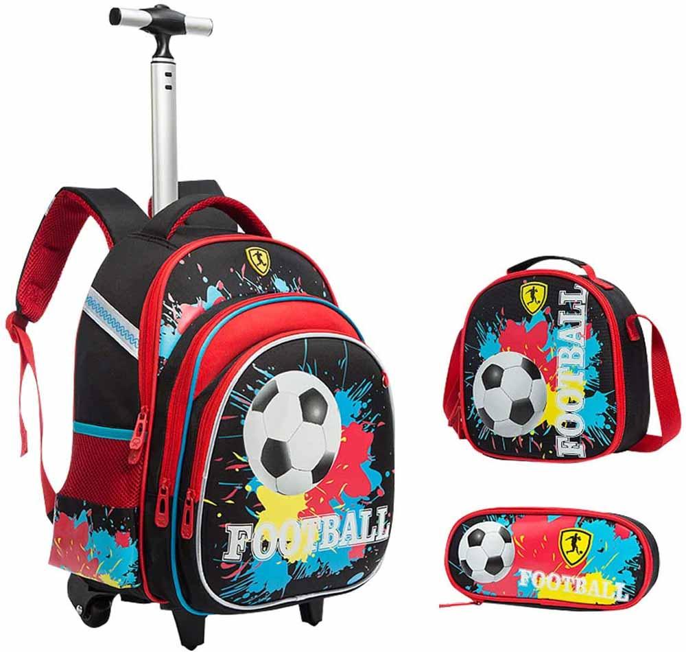 Mochila escolar con ruedas IvyH Fútbol