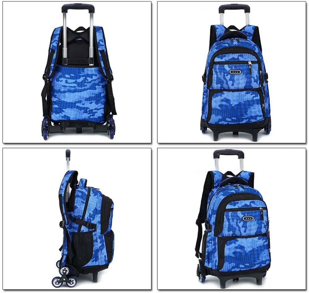 Mochila escolar con ruedas Kindoyo Azul