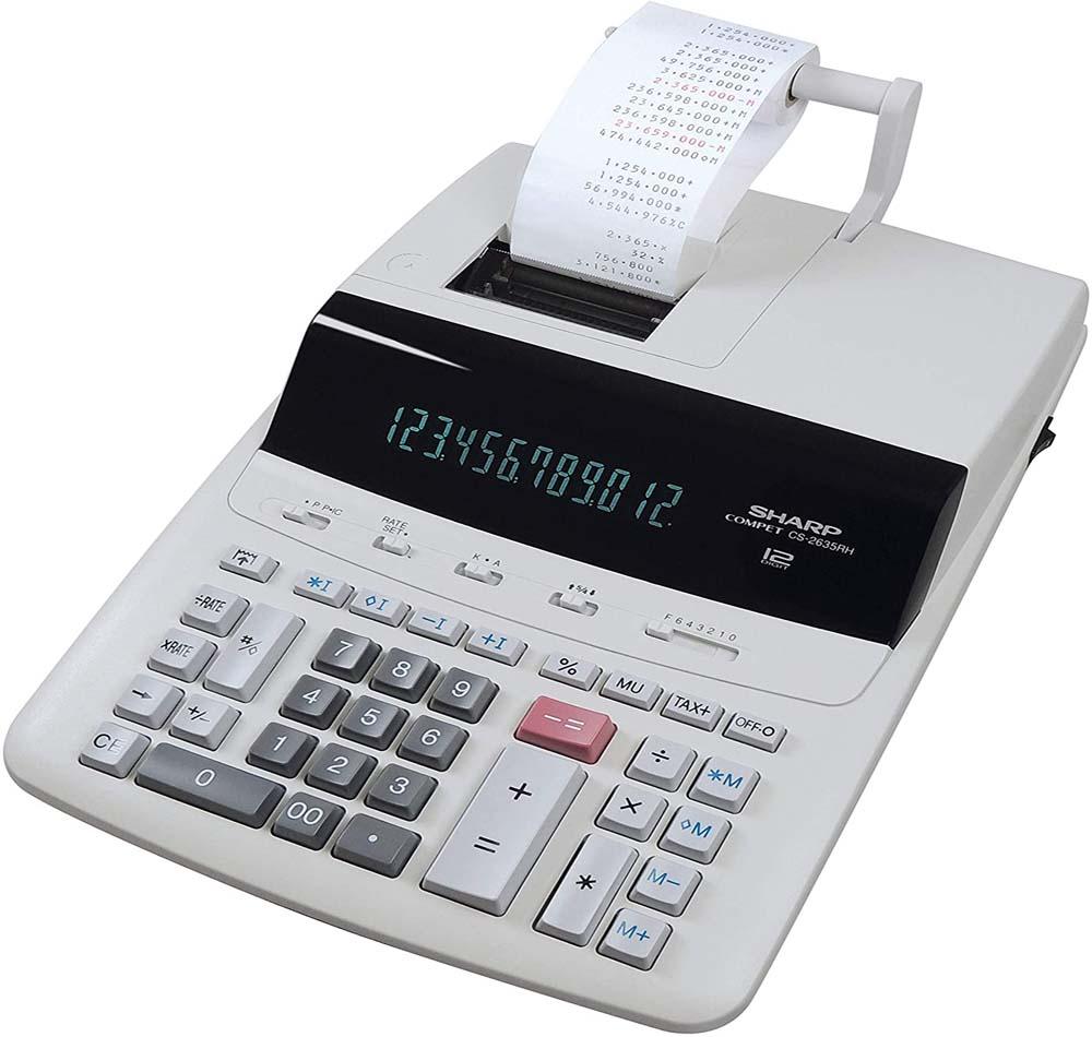 Calculadora con impresora Sharp CS2635RHGYSE